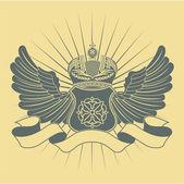 Heraldiska vintage symbol — Stockvektor