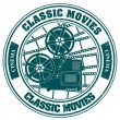Stock Vector: Stamp classic movies