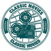 Stamp classic movies — Stock Vector