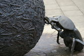 Dung Beetle Statue — Stock Photo
