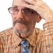 The old man hold on his head — Stock Photo