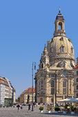 Frauenkirche Church, Dresden, Germany, Europe — Stock Photo