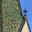 Steeple of medieval church — Stock Photo