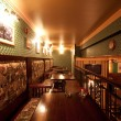 Foto de Stock  : Irish pub. interior with artificial light