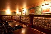 Irish pub. interior with artificial light — Stock Photo