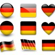 The German flag - Stock Photo