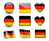 The German flag — Stockfoto