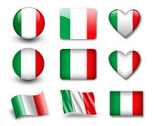 The Italian flag — Stock Photo