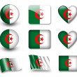 The Algerian flag — Stock Photo