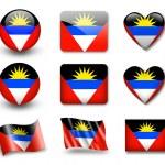 Флаг Антигуа и Барбуда — Стоковое фото