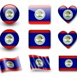 Belize flag — Stock Photo #8968809