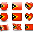 The East Timor flag — Stock Photo