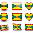 The Grenada flag — Foto de Stock