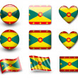 The Grenada flag — Foto Stock