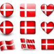 The Danish flag — Stock Photo #8969245