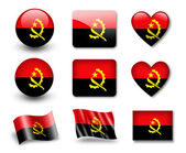 The Angolan flag — Stock Photo