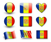 The Andorran flag — Stock Photo