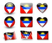 The Antigua and Barbuda flag — Stock Photo