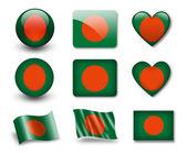 The Bangladesh flag — Stock Photo