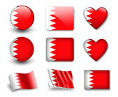 The Bahraini flag — Stock Photo