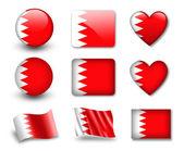 The Bahraini flag — Stock Photo