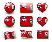 The Bermuda Islands flag — Stock Photo