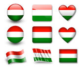 The Hungarian flag — Stock Photo