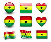 The Ghana flag — Stock Photo