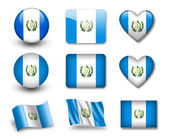 The Guatemala flag — Stock Photo