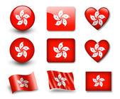 The Hong Kong flag — Stock Photo