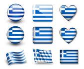 La bandera griega — Foto de Stock