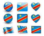 The Democratic Republic of the Congo flag — Stock Photo