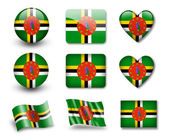 The Dominica flag — Stock Photo