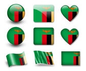 The Zambian flag — Stock Photo