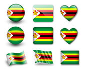 The Zimbabwe flag — Stock Photo
