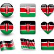 The Kenyan flag — Stock Photo #9016562
