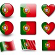 The Portuguese flag - Stock Photo