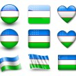 The Uzbek flag — Stock Photo