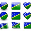 The Solomon Islands flag — Stock Photo