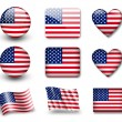 usa flaggan — Stockfoto #9019915