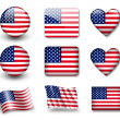 usa flaggan — Stockfoto