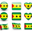 The Sao Tome and Principe flag - Stock Photo