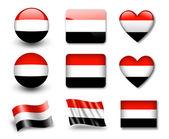 Le drapeau yéménite — Photo