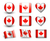The Canadian flag — Stock Photo