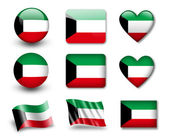 Le drapeau koweïtien — Photo