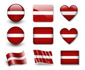 The Latvian flag — Stock Photo