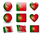 The Portuguese flag — Stock Photo