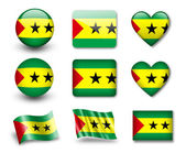 The Sao Tome and Principe flag — Stock Photo
