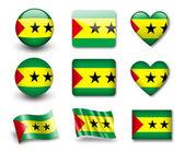 The Sao Tome and Principe flag — Stock Photo