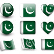 The Pakistani flag — ストック写真
